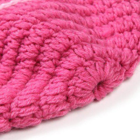 Discount Fashion Handmade Crochet Knitted Rabbit Shape Hat Sleeping Bag Set Baby Clothes - PINK  Mobile