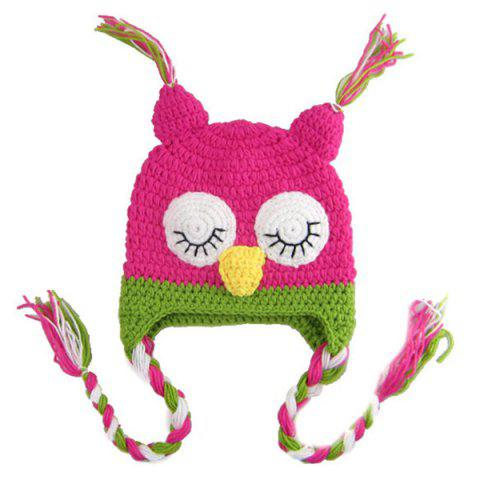 Online Sweet Owl Shape Handmade Crochet Knitted Beanie Hat and Shorts Set Baby Clothes - ROSE  Mobile