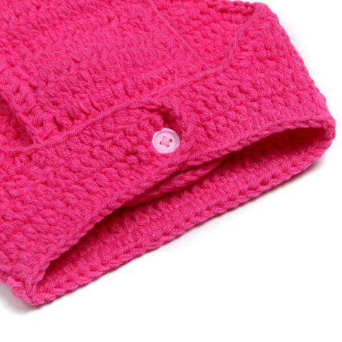 Hot Sweet Owl Shape Handmade Crochet Knitted Beanie Hat and Shorts Set Baby Clothes - ROSE  Mobile