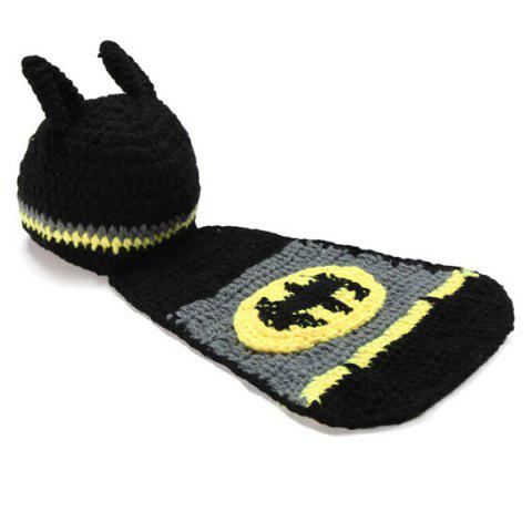 Buy High Quality Hand Knitting Photography Bat Shape Baby Clothes Suits - BLACK  Mobile