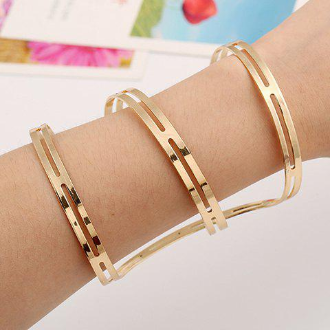 Fashion Irregular Hollow Out Cuff Bracelet