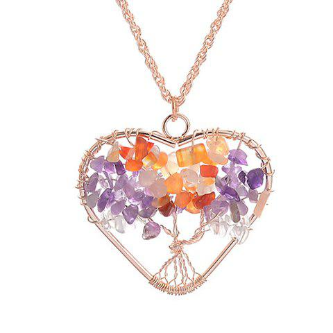 Store Gorgeous Life Tree Heart Pendant Necklace For Women