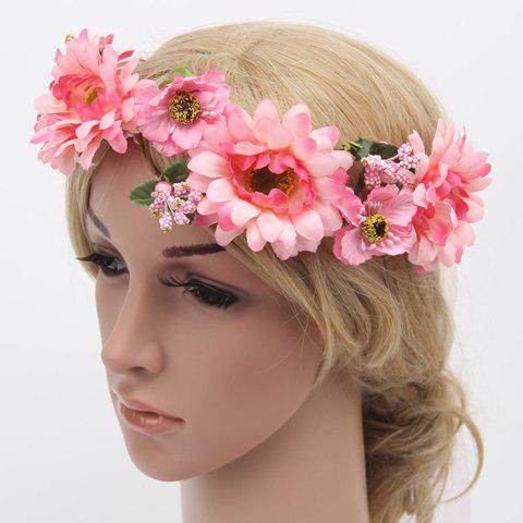 Discount Chic Vivid Flower Embellished Wreath Headband For Women