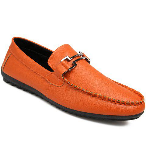 Outfits Leisure Metal and Solid Color Design Loafers For Men