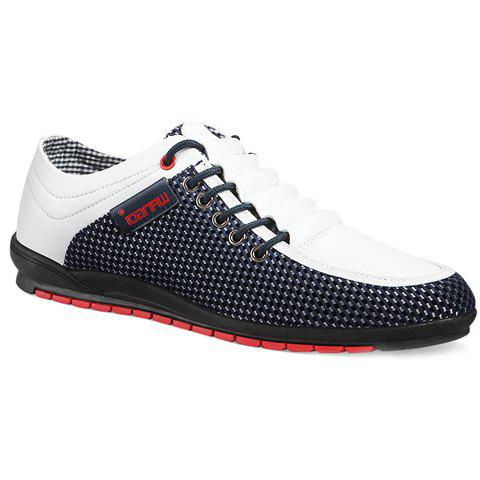 Sale Fashionable Splicing and Colour Block Design Casual Shoes For Men WHITE 44