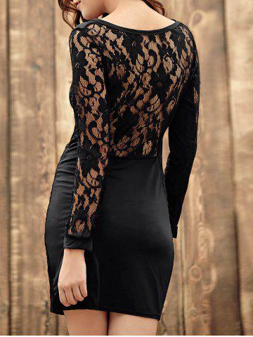 Shops Long Sleeve Lace Back Bodycon Bandage Dress