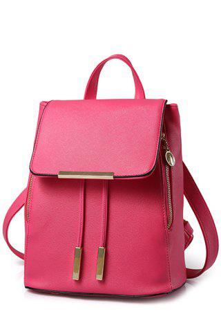 Outfits Preppy Cover and Solid Color Design Satchel For Women - ROSE  Mobile
