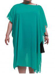 Plus Size Asymmetrical Tunic Long Beach Cover-Ups