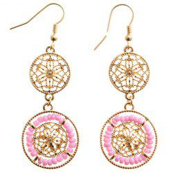 Pair of Chic Beads Hollow Out Drop Earrings For Women -