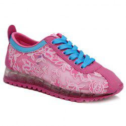 Trendy Colour Block and Embroidery Design Athletic Shoes For Women -
