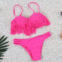 Fringe Underwire Bikini Set - ROSE S