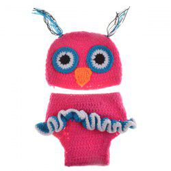 Chic Quality Newborn Wool Knitting Owl Design Baby Costume Hat+Shorts Suits -