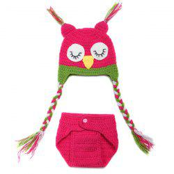 Sweet Owl Shape à la main en crochet en tricot Beanie Hat and Shorts Set Vêtements pour bébés -