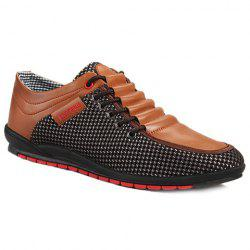 Fashionable Splicing and Colour Block Design Casual Shoes For Men - BROWN