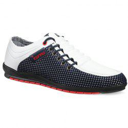 Fashionable Splicing and Colour Block Design Casual Shoes For Men - WHITE 44