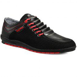 Fashionable Splicing and Colour Block Design Casual Shoes For Men - BLACK 39