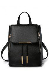 Preppy Cover and Solid Color Design Satchel For Women -