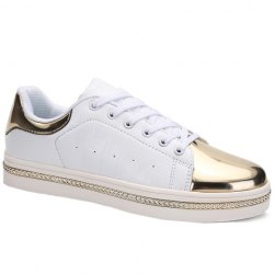 Stylish PU Leather and Metal Design Casual Shoes For Men -