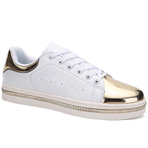 Store Stylish PU Leather and Metal Design Casual Shoes For Men