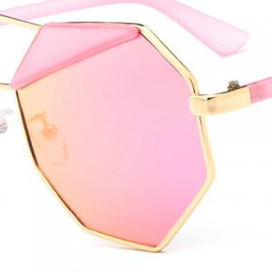 Chic Metal Polygonal Frame Sunglasses For Women -