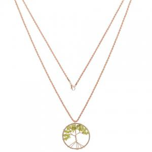 Gorgeous Life Tree Hollow Out Necklace For Women - GOLDEN