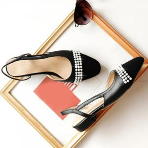 Sweet Black Color and Square Toe Design Flat Shoes For Women - BLACK 39
