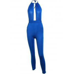 Sexy Plunging Neck Self-Tie Jumpsuit For Women -