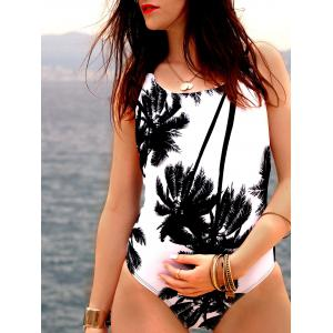 Cami Coconut Palm Print One Piece Swimwear