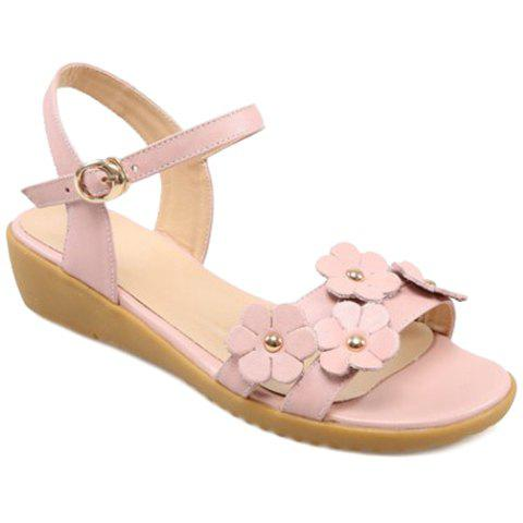 Trendy Leisure Floral and Low Heel Design  Sandals For Women