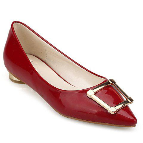 Best Trendy Patent Leather and Metal Design Flat Shoes For Women