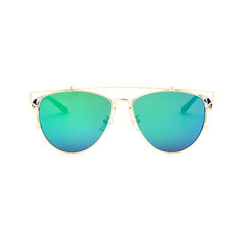 Shops Chic Metal Bar Embellished Golden Frame Sunglasses For Women