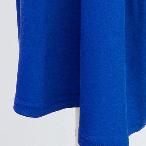 Latest Plus Size Capri Wide Leg Pants - 4XL BLUE Mobile