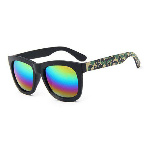 Fashion Chic Camouflage Pattern Leg Rainbow Color Lenses Sunglasses For Women