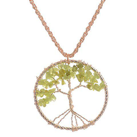 Best Gorgeous Life Tree Hollow Out Necklace For Women GOLDEN