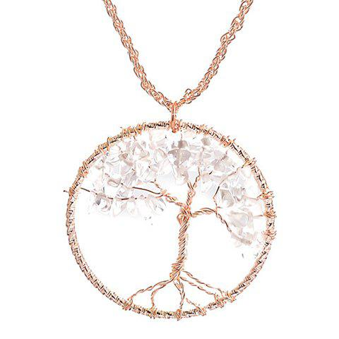 Cheap Vintage Life Tree Round Necklace GOLDEN