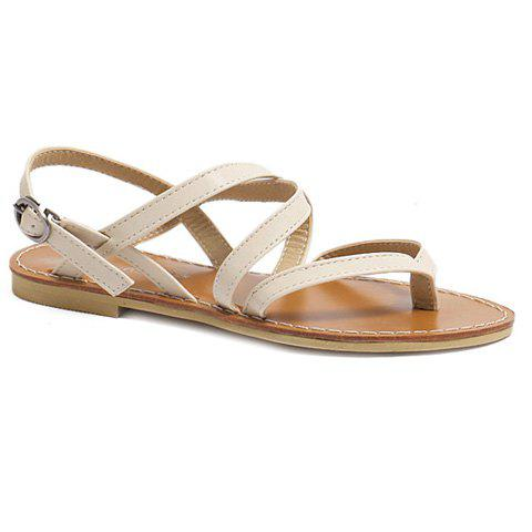 Outfits Casual Cross-Strap and Flat Heel Design Sandals For Women