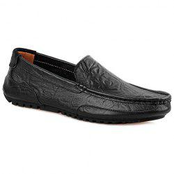 Simple Solid Colour and Stitching Design Casual Shoes For Men - BLACK