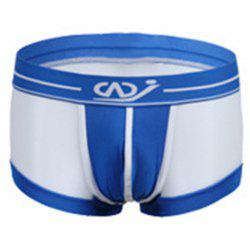 Transparency Mesh Legging Color Block Boxer Briefs For Men -
