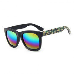 Chic Camouflage Pattern Leg Rainbow Color Lenses Sunglasses For Women -