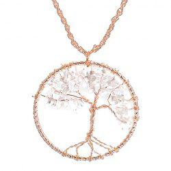 Vintage Life Tree Round Necklace