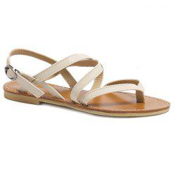 Casual Cross-Strap and Flat Heel Design Sandals For Women -