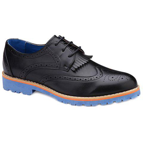 Fancy Trendy Fringe and Engraving Design Casual Shoes For Men
