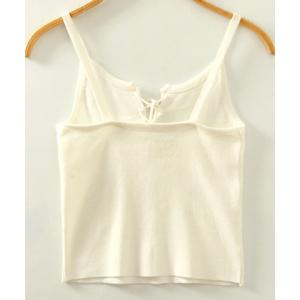 Stylish Spaghetti Strap Lace-Up Women's Tank Top - WHITE ONE SIZE(FIT SIZE XS TO M)