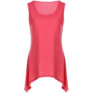Hanky Hem Long Scoop Neck Tank Top