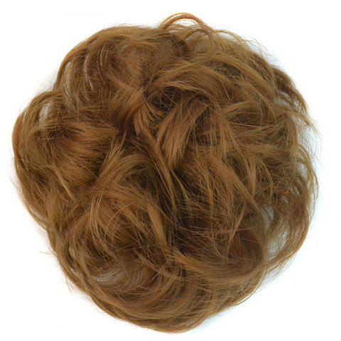 Affordable Bouffant Curly Synthetic Hair Bun GOLDEN BLONDE