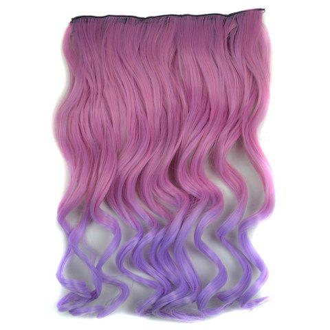 Cheap Vogue Long Synthetic Shaggy Curly Purple Ombre Clip In Hair Extension For Women