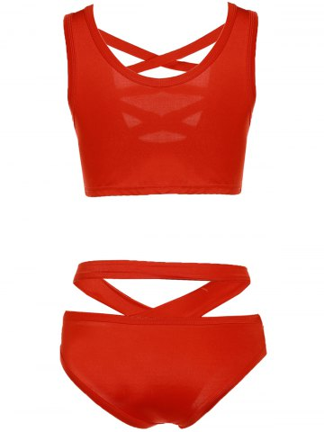 Discount Women's Stylish Pure Color Hollow Out Bikini