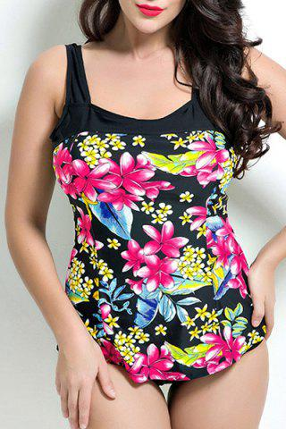 New Floral Print Backless One Piece Swimwear