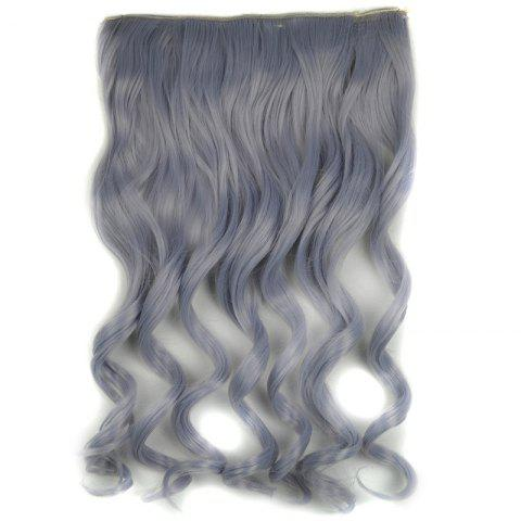Cheap Prevailing Light Grandma Ash Synthetic Shaggy Curly Long Hair Extension For Women