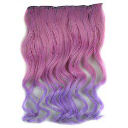 Vogue Long Synthetic Shaggy Curly Purple Ombre Clip In Hair Extension For Women -